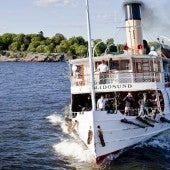 A Vintage Steamboat The Waters Of Stockholm