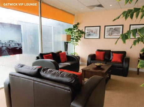 VIP lounge at Gatwick private jet airport