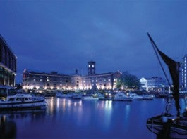London Marina at night