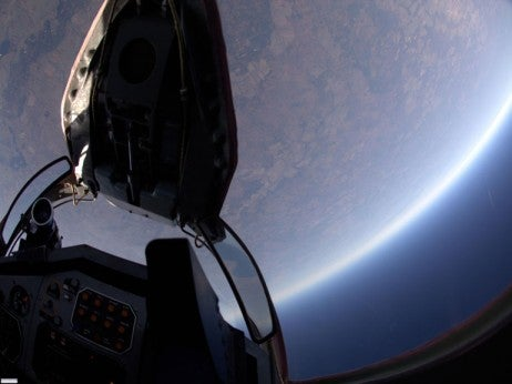The stunning view from a MIG -29