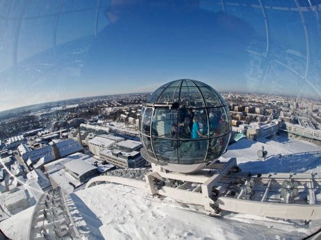 Panorama Across Stockholm From The Skyview