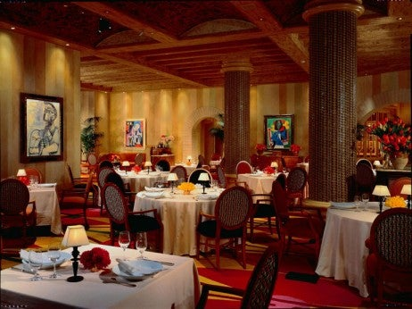 The Picasso Main Dining Room, one of the best restaurants in Las Vegas for Italian Cuisine.
