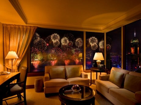 festival celebrations from the King presidential suite