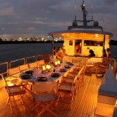 Sunset-on-nymphaea-luxury-yacht