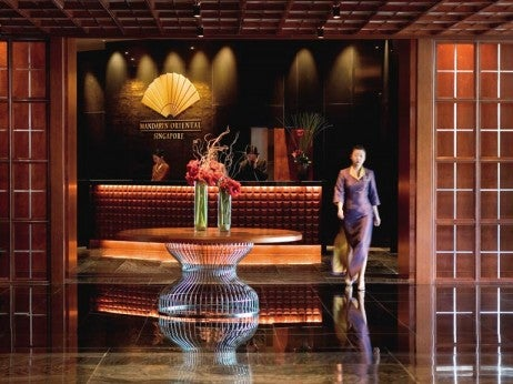 The lobby at the mandarin oriental
