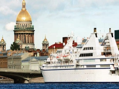 A Luxury yacht in St Petersburg