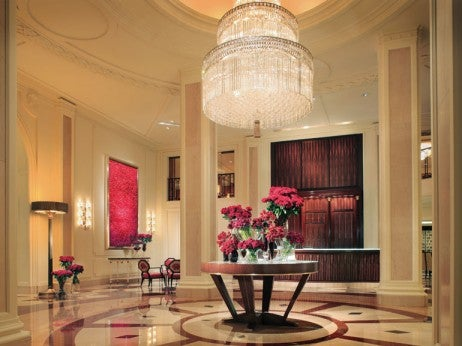 THE LOBBY AT THE BEVERLY WILSHIRE