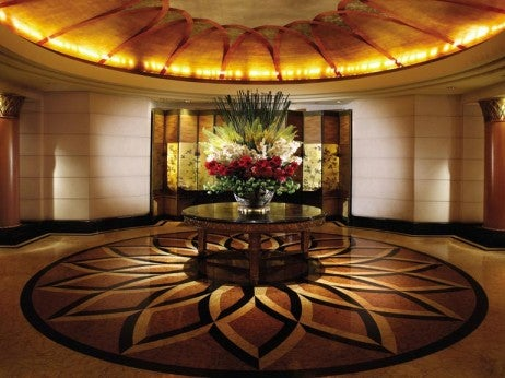 The lobby at the four seasons