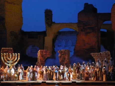A summer performance at the Baths of Caracalla