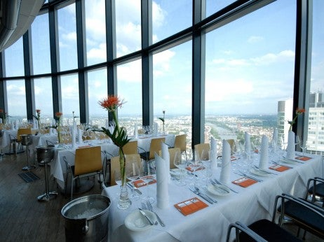 Dining With A View At Main Tower Restaurant