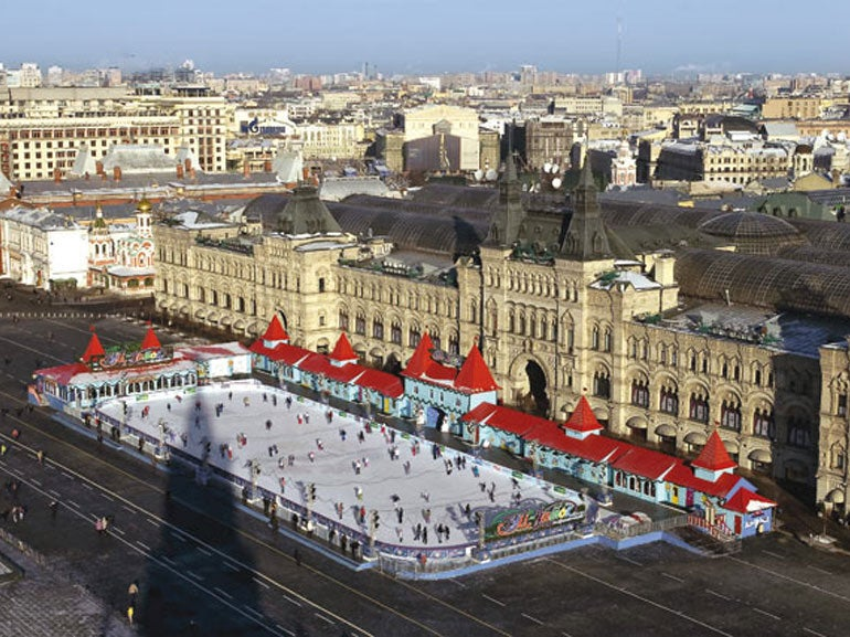 ICE SKATING AT RED SQUARE