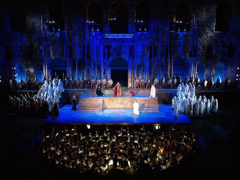 Nabucco performed at The Odeon of Herodes Atticus