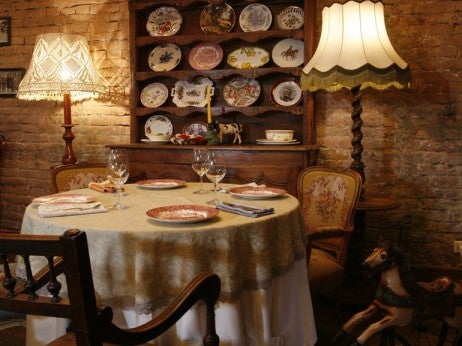 The interior at Piccolino, one of the best Italian restaurants in Moscow