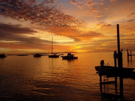 Sunset at Staniel Cay Yacht Club