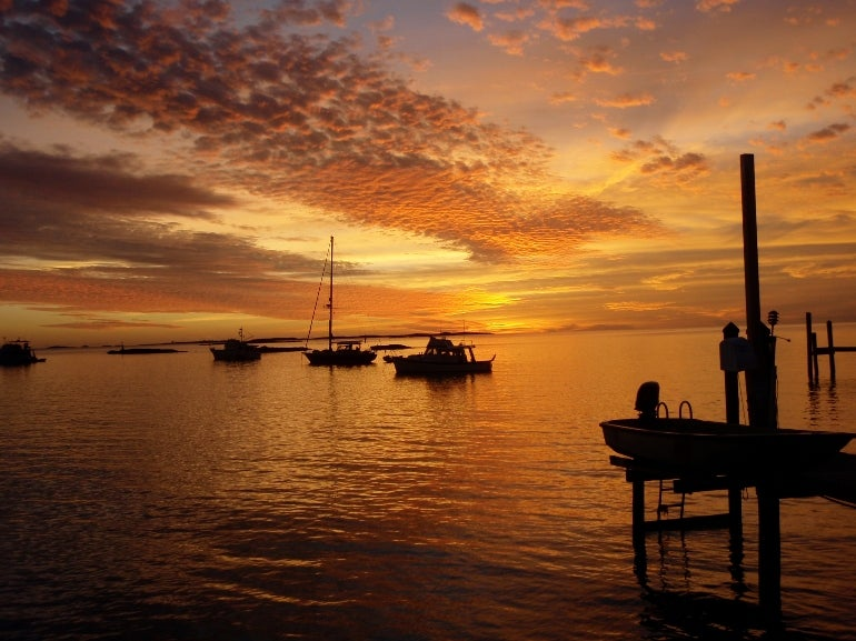 Sunset at Staniel Cay Yacht Club | Elite Traveler