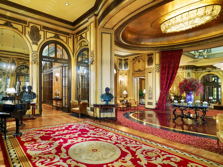 The St Regis Rome lobby