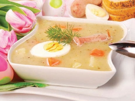 wHItE BoRScHt wItH EggS ANd SAUSAgE At SEKREt REStAURANt