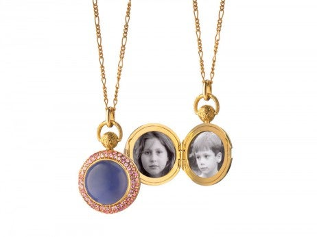 Yellow Gold And Blue Chalcedony