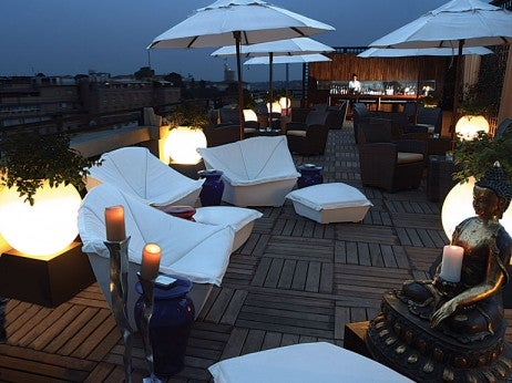 Rooftop terr ace dining at The Aleph