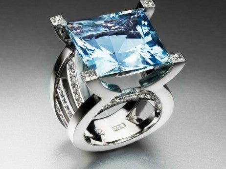 Aquamarine diamond ring by Schullin