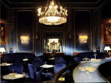 The glamorous Blaue Bar at Hotel Sacher