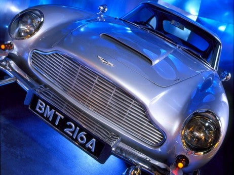 Bond car at the International Spy Museum