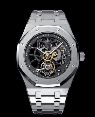 Openworked extra-thin royal oak tourbillon / audemars piguet