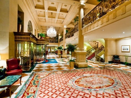Lobby of the Grand Hotel Wien
