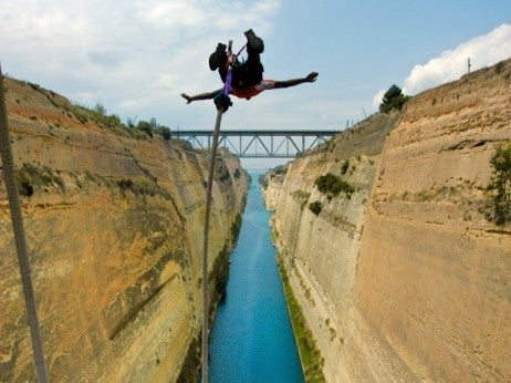 Leaping into the Corinth Canal