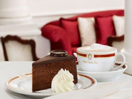 The original Sacher-Torte at Café Sacher