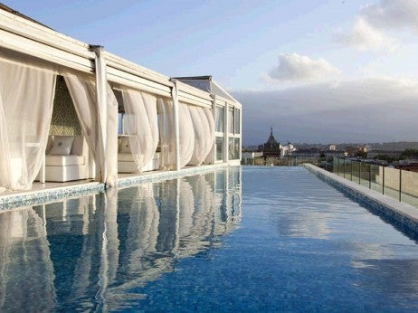 the Rooftop pool at The Exedra
