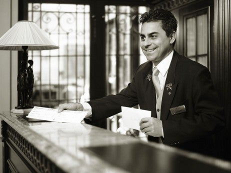 Thomas Knappe, a member of the dedicated Sacher Concierge Team