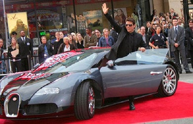 tom Cruise - The highest profile buggati veyron owners