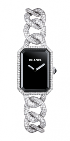 Chanel Première watch in 18K white gold and diamonds