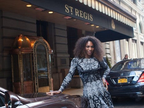 Serena Williams Bentley St. Regis New York