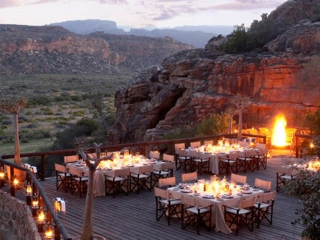 Outdoor Dining at Bushmans Kloof, South Africa