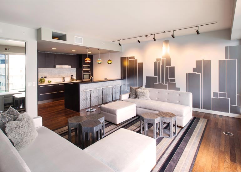 all fun and games at w hollywood residences penthouse 12g elite traveler. Black Bedroom Furniture Sets. Home Design Ideas