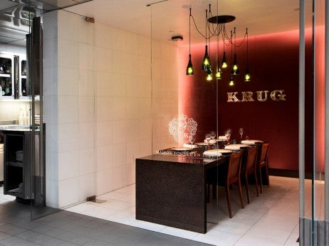 The Krug's Chef's Table at Guy Savoy