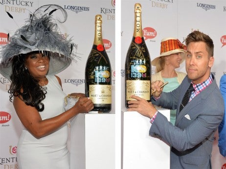Star Jones Lance Bass  Kentucky Derby Moet Champagne