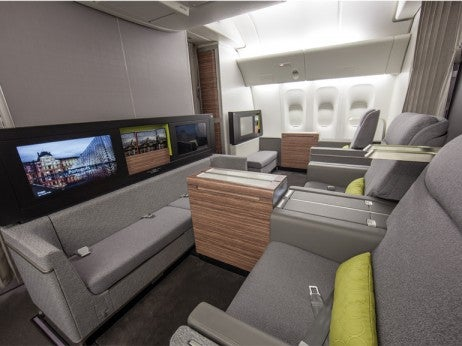 First-class cabins on TAM's new Boeing 777