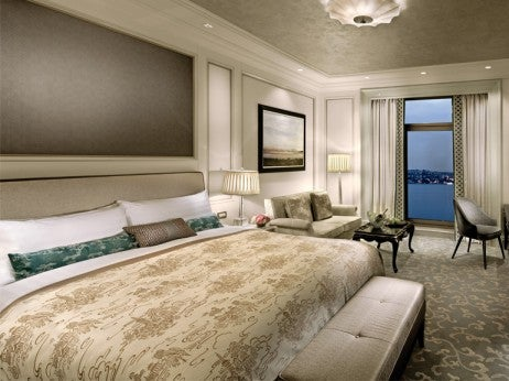 Most of the rooms and suites at Shangri-La Bosphorus have river views.