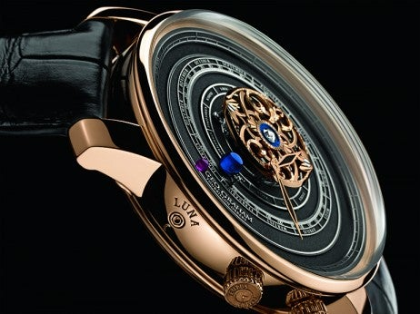 Graham Orrery watch close up
