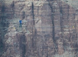 grand canyon high wire crossing