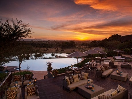 Pool and al fresco dining, Four Seasons Safari Lodge Serengeti