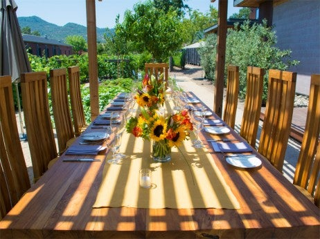 Lucy Restaurant & Bar Garden Table Bardessono Yountville