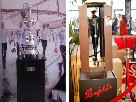America's Cup trophy Penfolds Ampoule