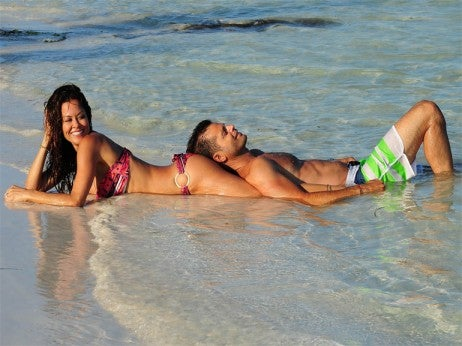 Brooke Burke Charvet and David Charvet at El Dorado Maroma