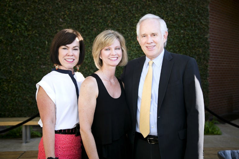 (L-R) Debra Gunn Downing, Executive Director of Marketing, South Coast Plaza, Sandy Segerstrom Daniels, Mng. Partner, C.J. Segerstrom & Sons/Founder & Exec., Festival of Children Foundation, and David Grant, General Manager, South Coast Plaza.