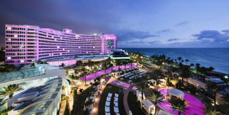 Fontainebleau Miami Beach Lights Up