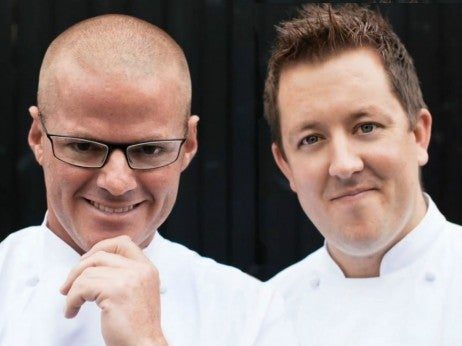 Ashley Palmer-Watts with Heston Blumenthal